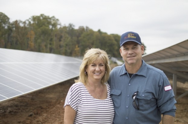 Josh Bergeron / Salisbury Post - Tim and Tammy Holshouser have converted 20 acres of land in the Gold Hill area into a solar farm. It's projected to be the second solar farm to be fully operational in Rowan County. - See more at: http://www.salisburypost.com/2015/10/31/holshousers-switch-from-raising-cattle-to-solar-panels/#sthash.NUoAm81L.dpuf